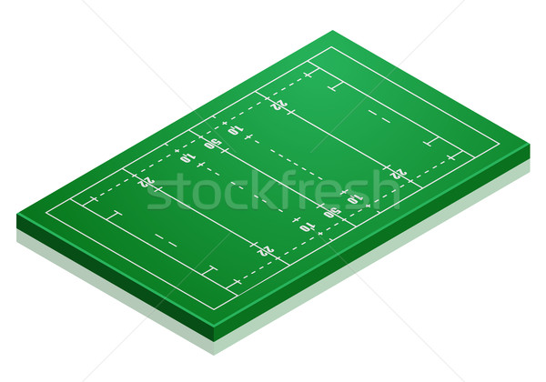 Rugby Field Stock photo © unkreatives
