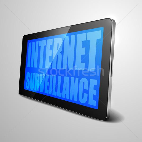 Comprimido internet observação detalhado ilustração Foto stock © unkreatives