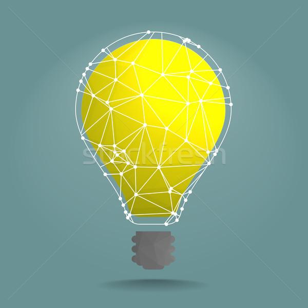polygon lightbulb network Stock photo © unkreatives