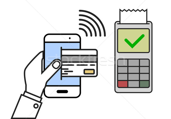 Mobile Payment accepted Stock photo © unkreatives