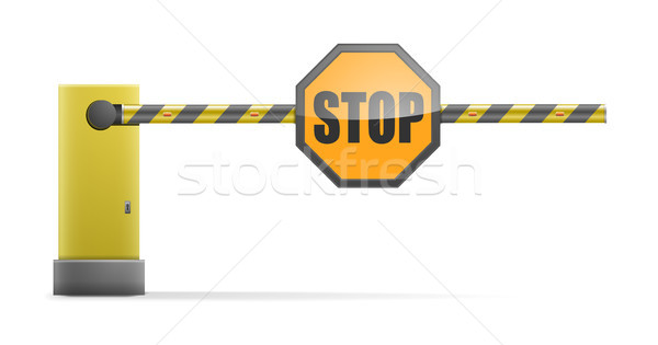 Closed Barrier Stop Stock photo © unkreatives