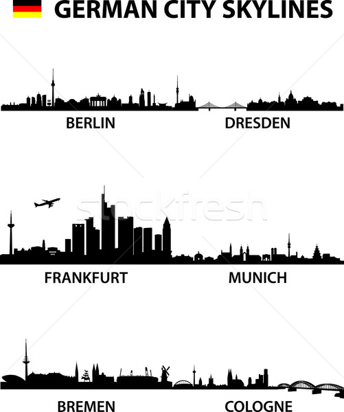 Skylines Germany Stock photo © unkreatives