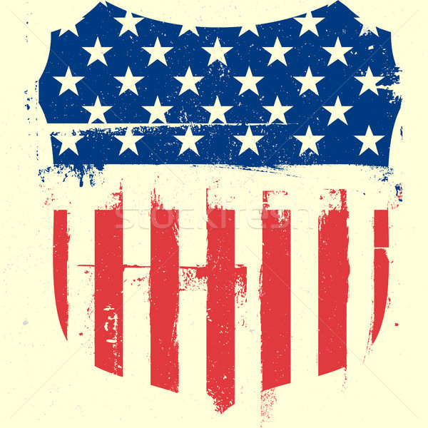 патриотический пальто оружия подробный иллюстрация американский флаг Сток-фото © unkreatives