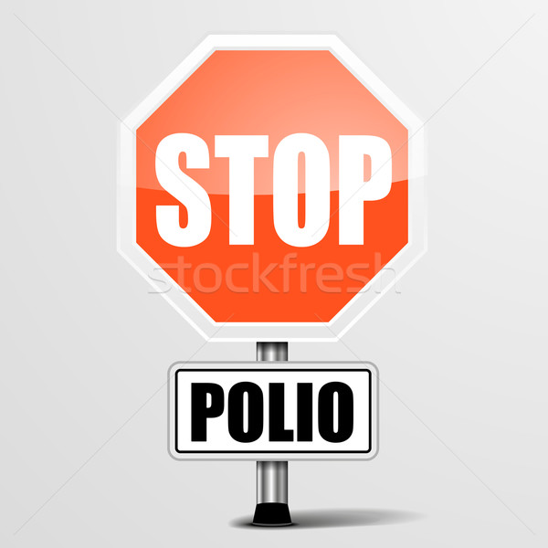 red polio Stop Sign Stock photo © unkreatives