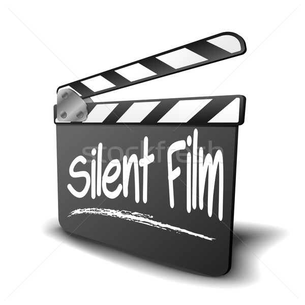 Clapper Board Silent Film Stock photo © unkreatives