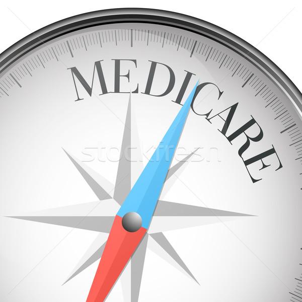 Iránytű medicate részletes illusztráció szöveg eps10 Stock fotó © unkreatives