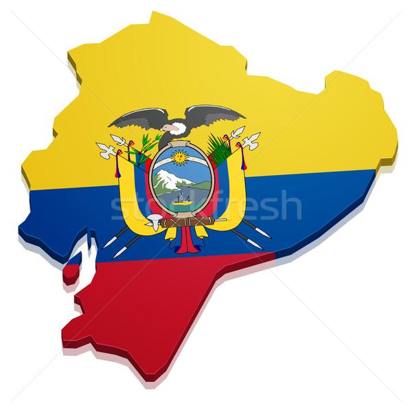 Map Ecuador Stock photo © unkreatives