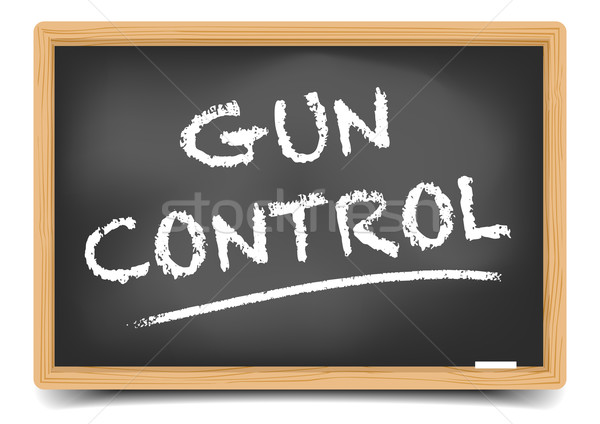 Blackboard Gun Control Stock photo © unkreatives