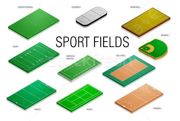 Foto stock: Esportes · campos · detalhado · ilustração · diferente · eps10