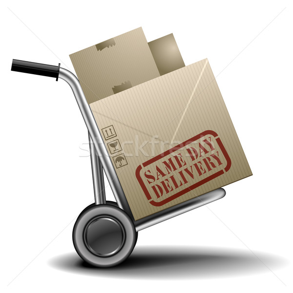Same Day Delivery Handtruck Stock photo © unkreatives