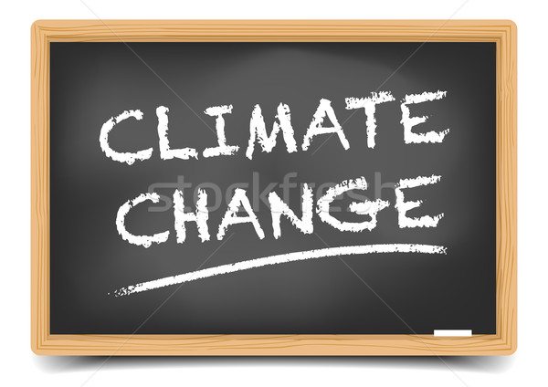 Blackboard Climate Change Stock photo © unkreatives