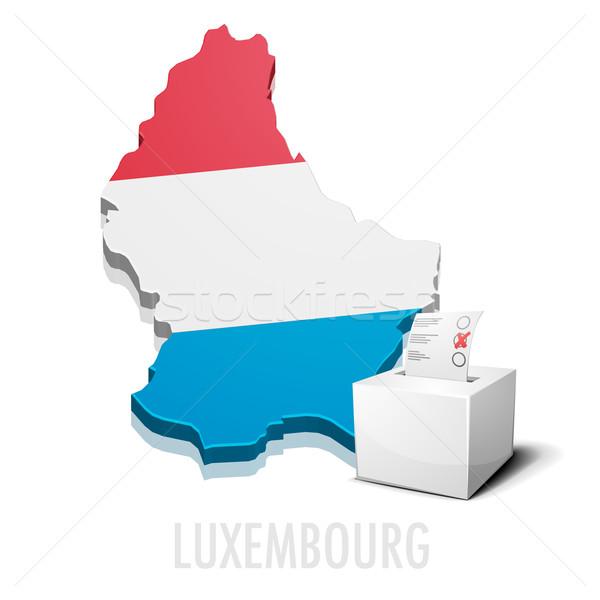 Luxemburg gedetailleerd illustratie kaart eps10 vector Stockfoto © unkreatives