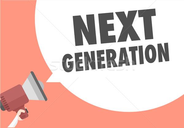 Megaphone Next Generation Stock photo © unkreatives