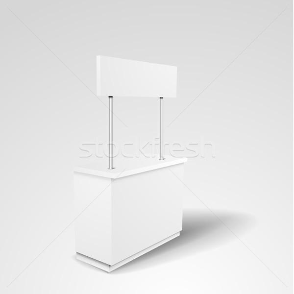 Promoción stand detallado ilustración contra Foto stock © unkreatives