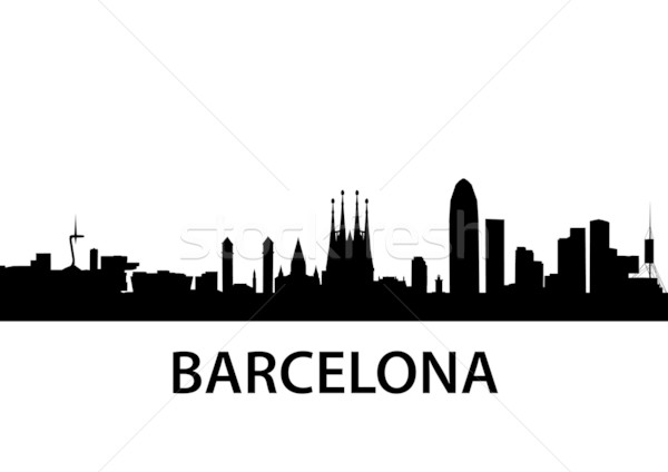 Skyline Barcelona Stock photo © unkreatives