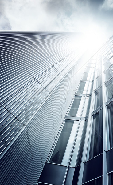 futuristic skyscraper from below Stock photo © unkreatives