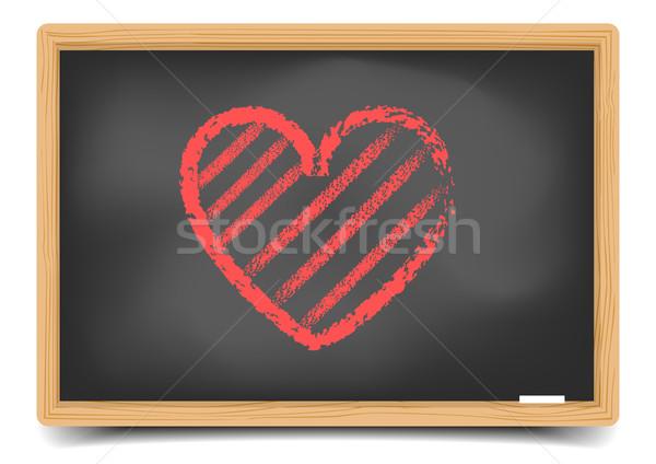 blackboard Heart Stock photo © unkreatives