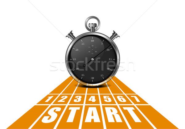 Başlatmak izlemek kronometre ayrıntılı örnek perspektif Stok fotoğraf © unkreatives
