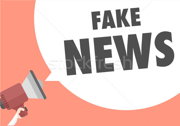 Megaphone Fake News Stock photo © unkreatives