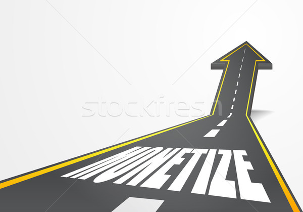 Stock photo: road to Monetize