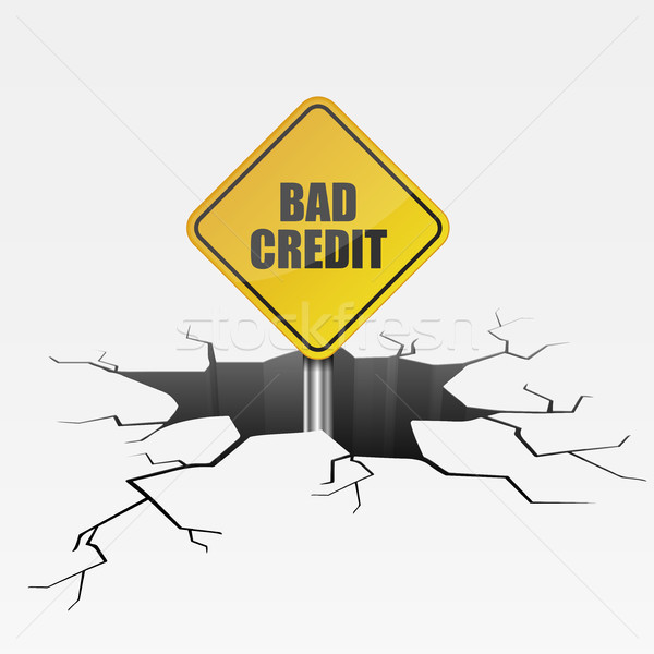 Crack Bad Credit Stock photo © unkreatives