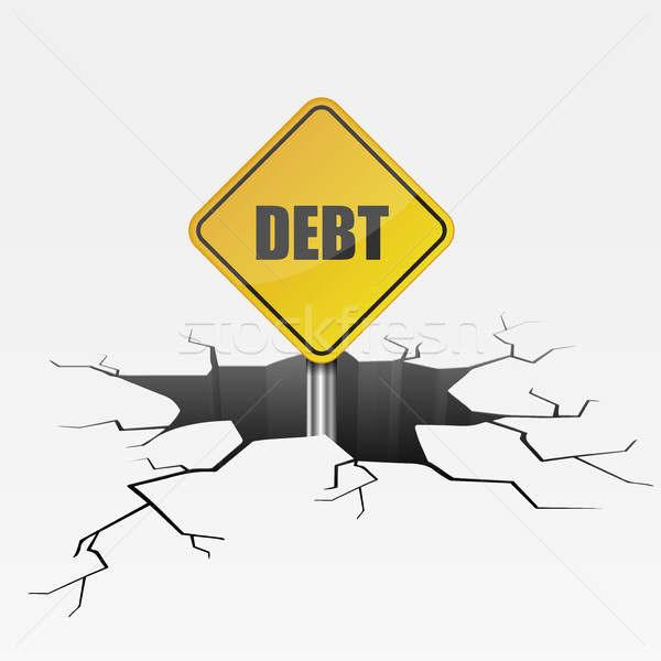 Crack Sign Debt Stock photo © unkreatives