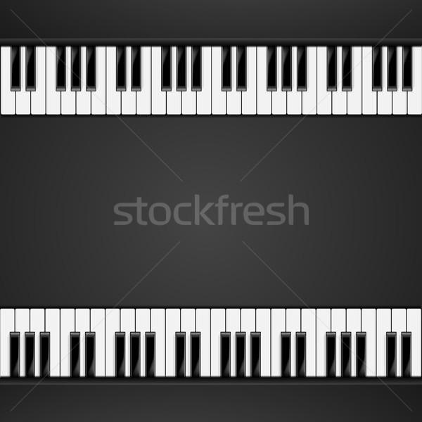 bg_piano_keys_06 Stock photo © unkreatives