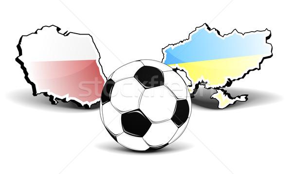 Oekraïne Polen voetbal kaarten europese Stockfoto © unkreatives
