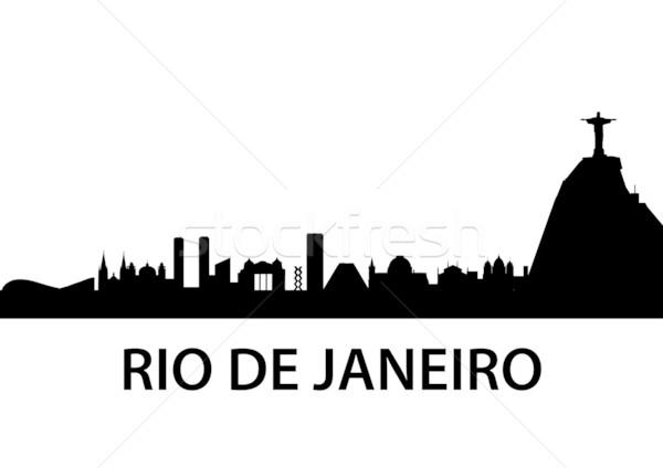 Rio de Janeiro linha do horizonte detalhado ilustração Brasil esportes Foto stock © unkreatives
