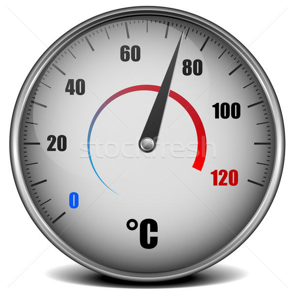Thermometer illustratie metaal analoog technologie industrie Stockfoto © unkreatives