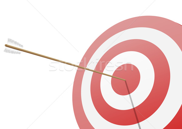 hitting the target Stock photo © unkreatives