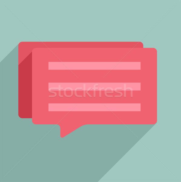 Diálogo cuadro ilustración Internet resumen Foto stock © unkreatives