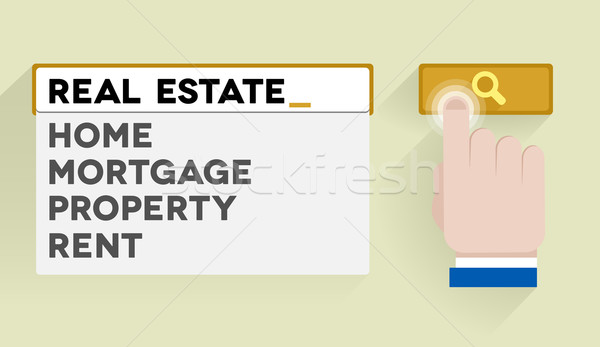 search real estate Stock photo © unkreatives