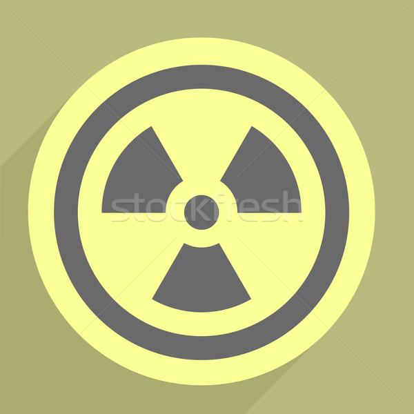 Zdjęcia stock: Promieniowanie · ikona · ilustracja · eps10 · wektora
