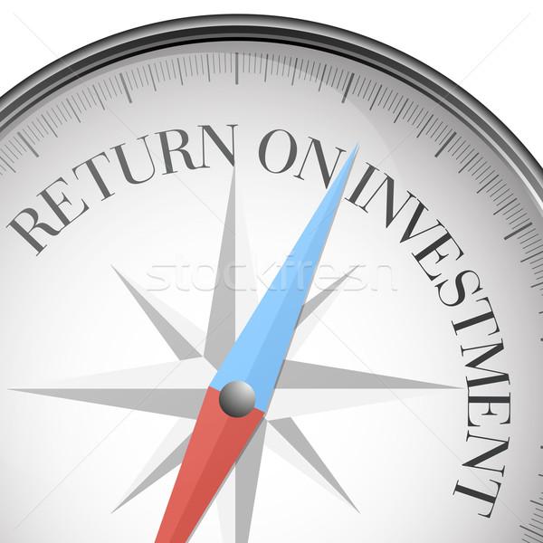 Iránytű roi részletes illusztráció visszatérés beruházás Stock fotó © unkreatives