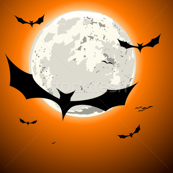 bats halloween background Stock photo © unkreatives