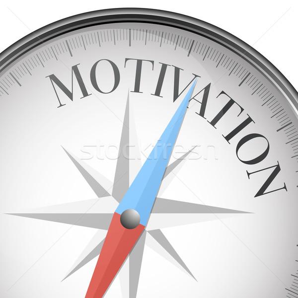 Bussola motivazione dettagliato illustrazione testo eps10 Foto d'archivio © unkreatives