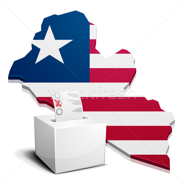 ballotbox Liberia Stock photo © unkreatives