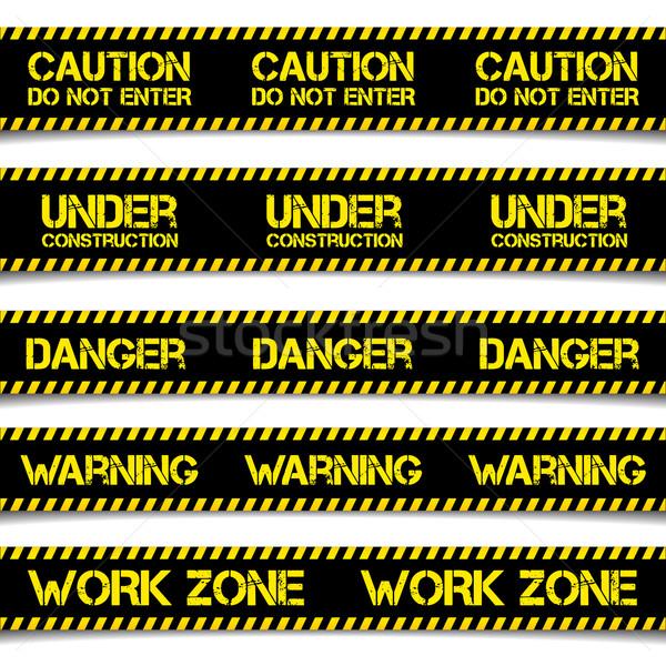 Construcción precaución líneas detallado ilustración eps10 Foto stock © unkreatives