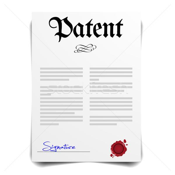 патент письме подробный иллюстрация eps10 вектора Сток-фото © unkreatives