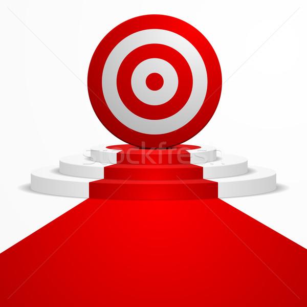 целевой подиум иллюстрация Top красный ковер ведущий Сток-фото © unkreatives