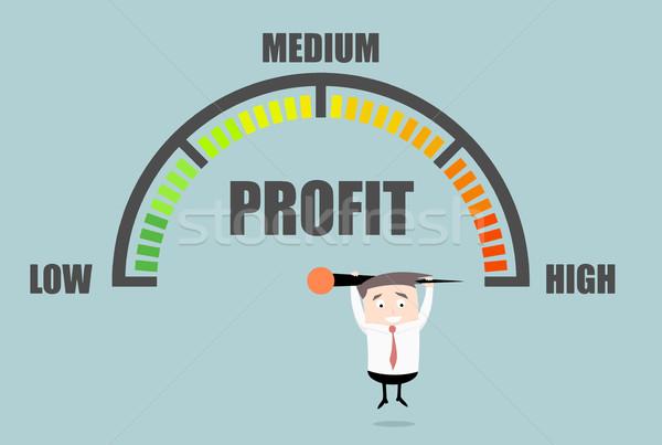 Businessman Profit Meter Stock photo © unkreatives