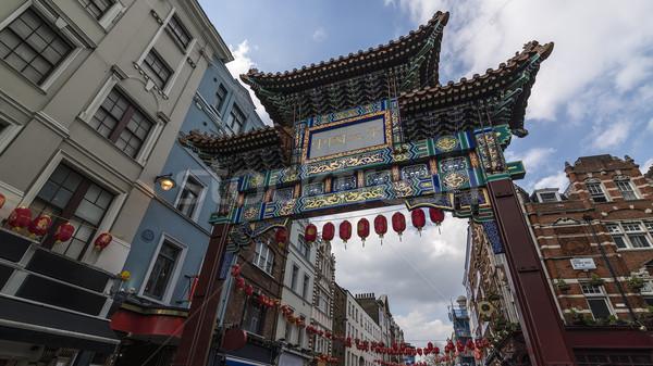 London Chinatown Gate Stock photo © unkreatives