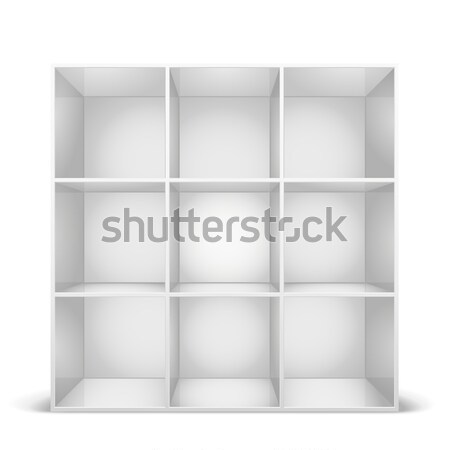 Czarny półka na książki szczegółowy ilustracja eps8 Zdjęcia stock © unkreatives