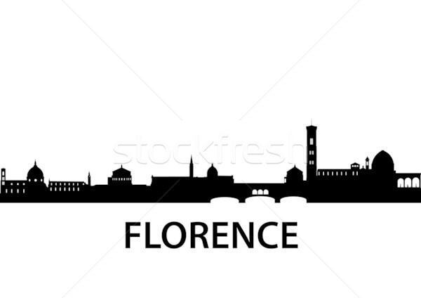 Skyline FLORENCE détaillée vecteur silhouette Italie Photo stock © unkreatives
