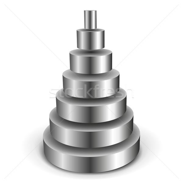Metaliczny cylinder piramidy ilustracja tle Zdjęcia stock © unkreatives