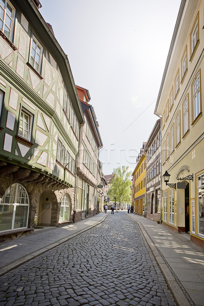 Street with half timbered houses Stock photo © unkreatives