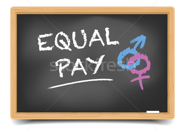 Blackboard Equal Pay Stock photo © unkreatives