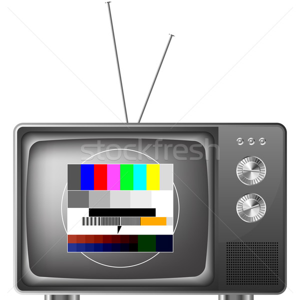 retro television with test image Stock photo © unkreatives