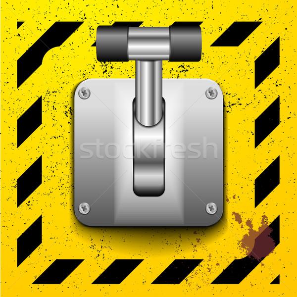 Palanca cambiar detallado ilustración posición amarillo Foto stock © unkreatives